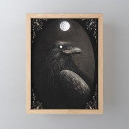 Crow Portrait Framed Mini Art Print