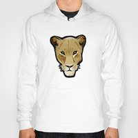 lesbian Hoodies featuring The Lesbian & the Lioness by BinaryGod.com
