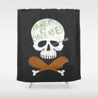 et Shower Curtains featuring Panem et Circenses by 5eth