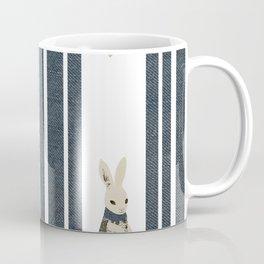 Winter Scene with Rabbit (Chasing the White Rabbit) Coffee Mug