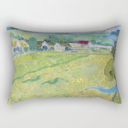 """Les Vessenots"" in Auvers by Vincent van Gogh Rectangular Pillow"