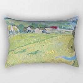 """""""Les Vessenots"""" in Auvers by Vincent van Gogh Rectangular Pillow"""