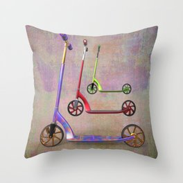 stillife with scooters Throw Pillow