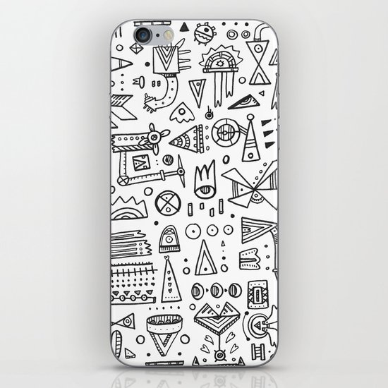 Triangle doodles iPhone & iPod Skin