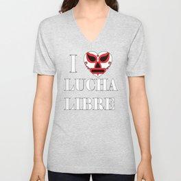 love for Lucha Libre Unisex V-Neck