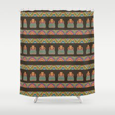 Traditional African Tribal Pottery Pattern Shower Curtain