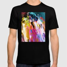 Self-Conscious Sparks Black Mens Fitted Tee MEDIUM
