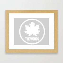 The Woods Leaf Framed Art Print