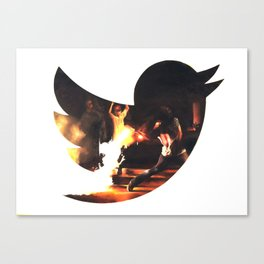 The Revolution will be Tweeted Canvas Print