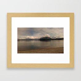 lake wanaka silent capture at sunset in new zealand Framed Art Print