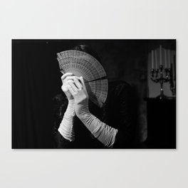 The white folding fan Canvas Print