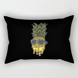 Melting Pineapple | Hot Tropical Fruit Rectangular Pillow