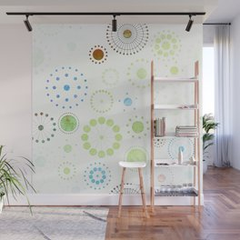 Whimsical Retro Watercolor Pattern Wall Mural