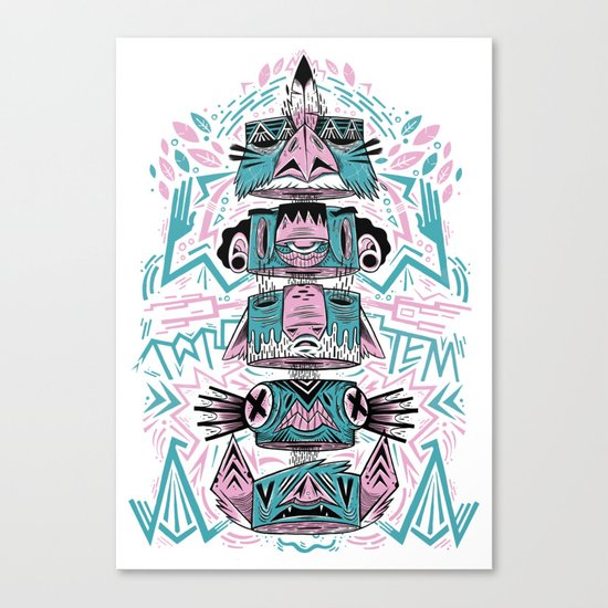Toto-Tem Canvas Print