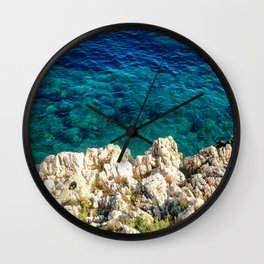 Saturday By The Sea Wall Clock