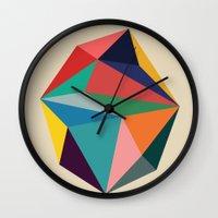 30 rock Wall Clocks featuring Rock by Picomodi