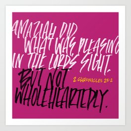 Not wholeheartedly Art Print