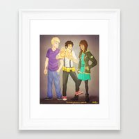 heroes of olympus Framed Art Prints featuring The Heroes of Olympus, The Lost Hero by Shaungart