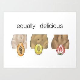 equally delicious Art Print