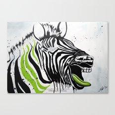 Zebra Streetstyle Canvas Print