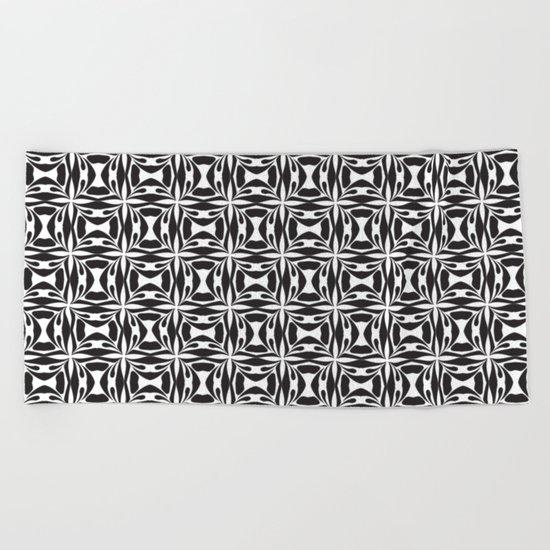 pattern black form 8 Beach Towel