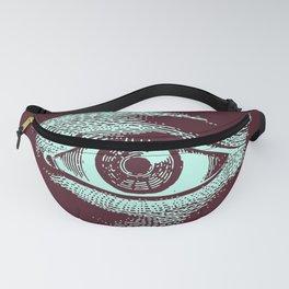 Retro Color Vintage Eye Pattern Fanny Pack