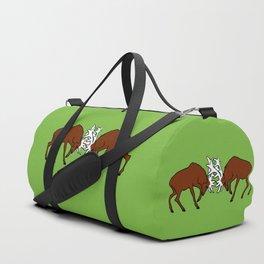 Deer fighting Duffle Bag