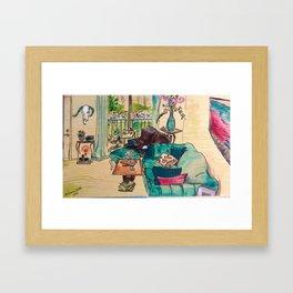 Apartment Living Framed Art Print