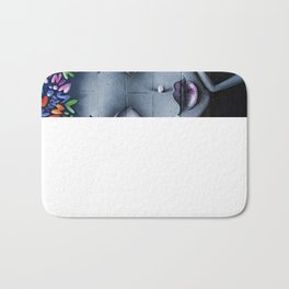girl letters grafitti Bath Mat