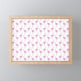 Pink Flamingo Pattern Framed Mini Art Print