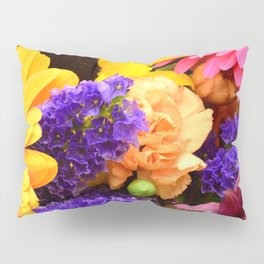 Colorful Joyous Flowers in Yellow, Pink, & Purple Pillow Sham