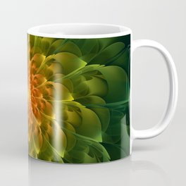 Beautiful Orange-Green Desert BarrelCactus Spiral Coffee Mug