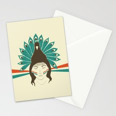 The princess and the peacock Stationery Cards