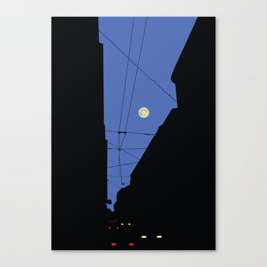 Moon lines Canvas Print