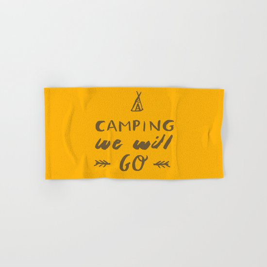 Camping we will go Hand & Bath Towel