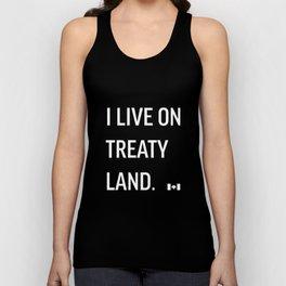 I LIVE ON TREATY LAND Unisex Tank Top