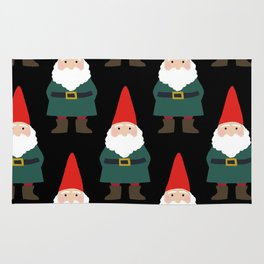 Gnome Repeat in Black Rug