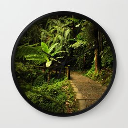 Tropical Forest Path Wall Clock