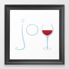 Wine Joy Framed Art Print