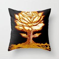Atomic Bloom Throw Pillow