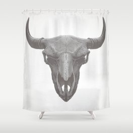 American Bison Skull Shower Curtain