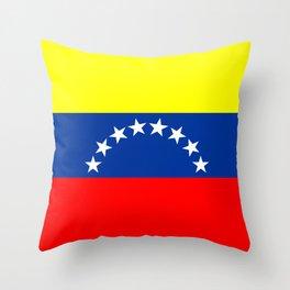 Venezuela country flag Throw Pillow