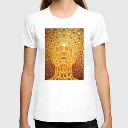 Golden Psychedelic Head T-shirt