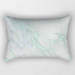Marble Love Mint Metallic Rectangular Pillow