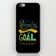 Remember why you set this goal in the first place - hand drawn typography motivational art iPhone & iPod Skin