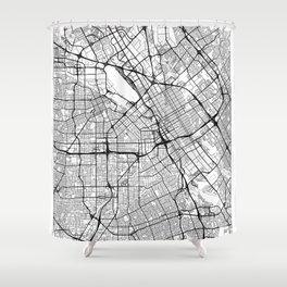 San Jose Map White Shower Curtain