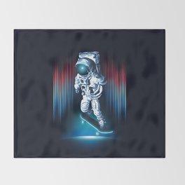 Space Skater Throw Blanket