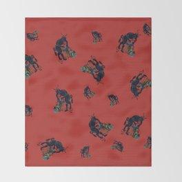 The Krampus - an Austrian Legendary Figure Throw Blanket