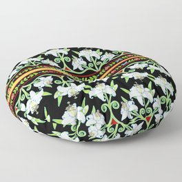 Elizabethan Lily Folkloric Stripe Floor Pillow