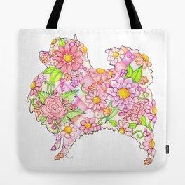 Pink Pomeranian Tote Bag
